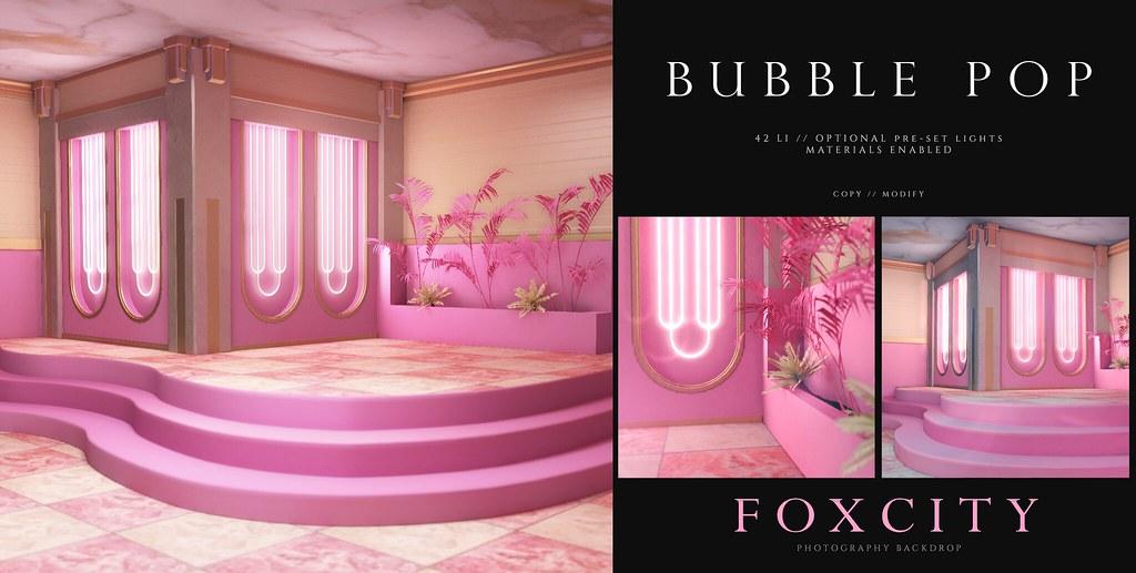 FOXCITY. Photo Booth - Bubble Pop