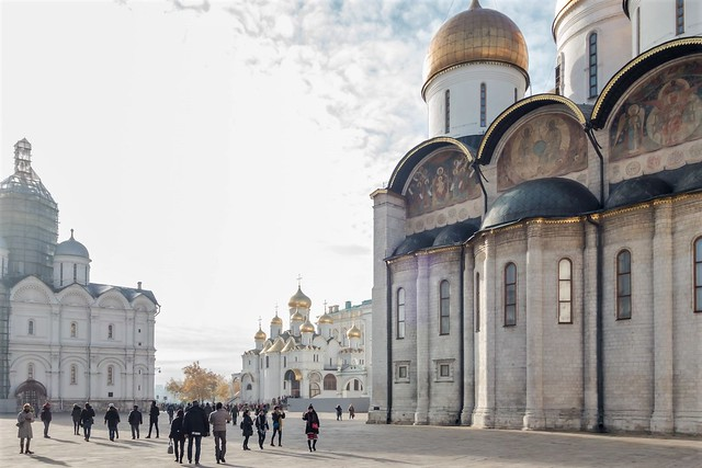 Inside the Kremlin: Cathedral Square.