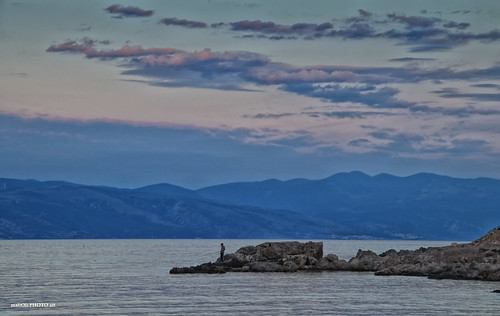 rocks sea shore seaside landscape fishing stone adriatic croatia hrvatska europe canon