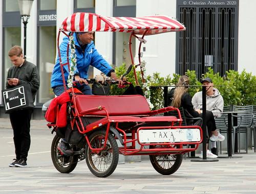 christianofdenmark copenhagen denmark inner city summer taxi bicyckle homemade