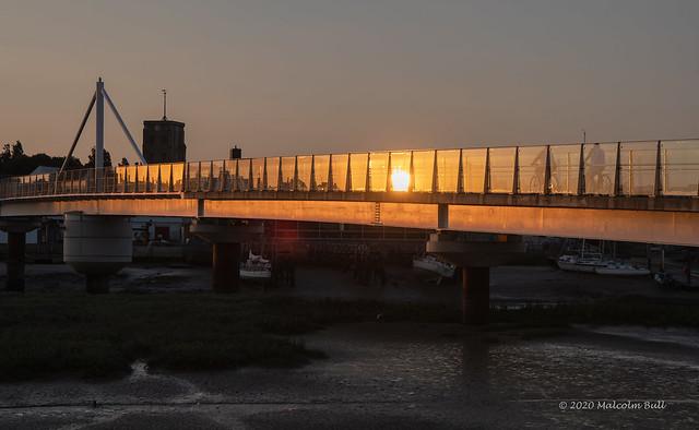 Sunset over the Adur