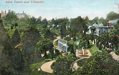A view down the garden, including the Golden Gate Walk