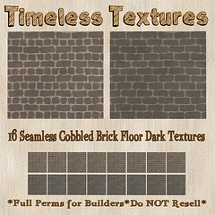 TT 16 Seamless Cobbled Brick Floor Dark Timeless Textures