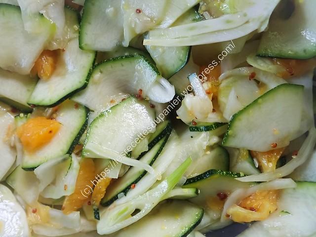 Salad de courgette et fenouil à l'orange / Courgette and Fennel with Orange Salad