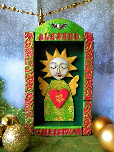 Christmas angel green