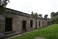 The old Pottery Studio and Tea Room behind the conservatories
