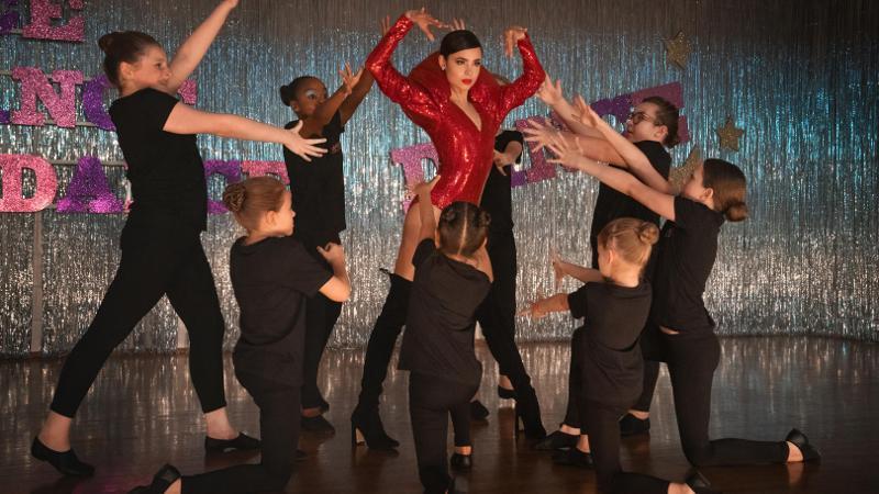 Actress Sofia Carson dancing