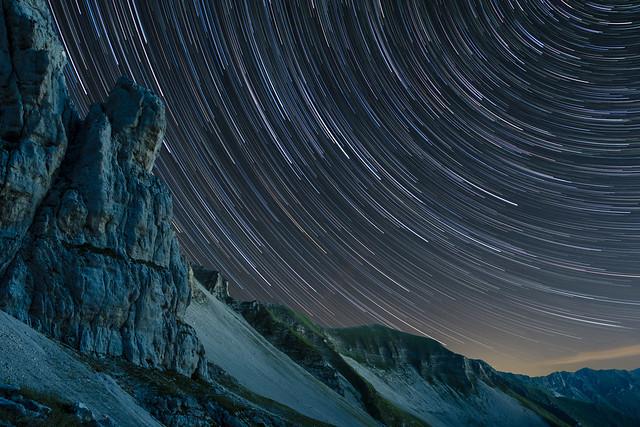 Gran Gendarme Star Trails