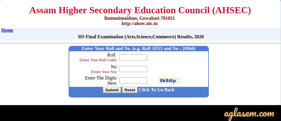 Assam Higher Secondary Result 2020 (Released) | Check AHSEC Result Here - HS Answer Script Rechecking Available