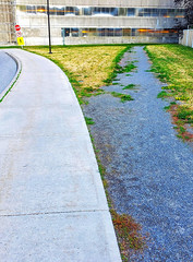 Desire path, now gravelled over