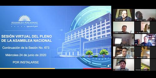 CONTINUACIÓN DE LA SESIÓN NO.673 DEL PLENO DE LA ASAMBLEA NACIONAL (VIRTUAL). ECUADOR, 24 DE JUNIO 2020