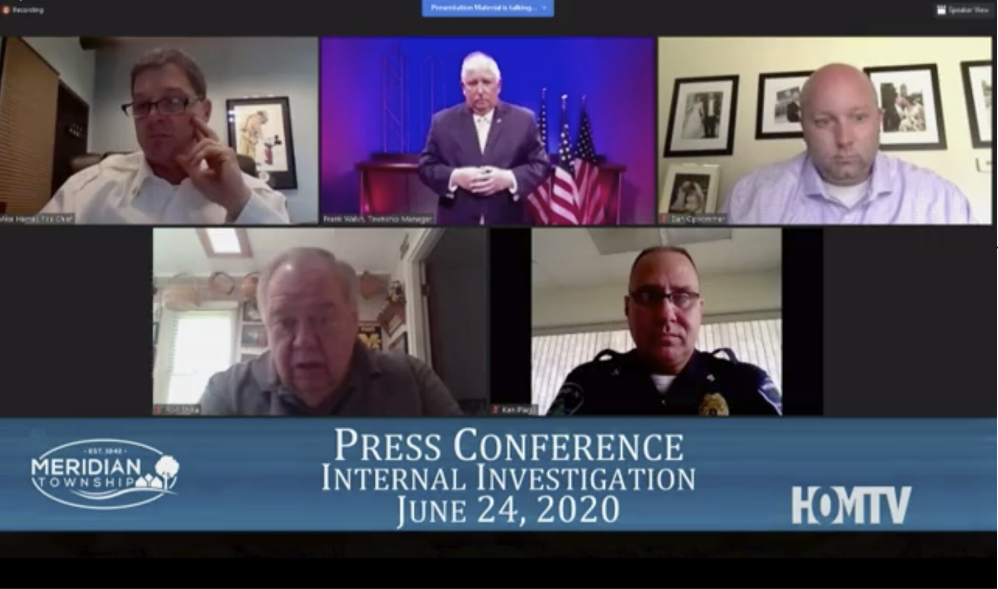 Meridian Township Hosts Press Conference On Racial Comments