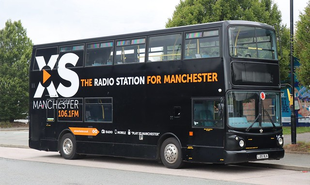 Go Goodwins, Eccles, Manchester 6 LJ05BLN working on service 84A on layover at Trafford Retail Park, Urmston.