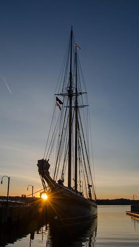 tallship schooner novascotia canada halifax sunrise