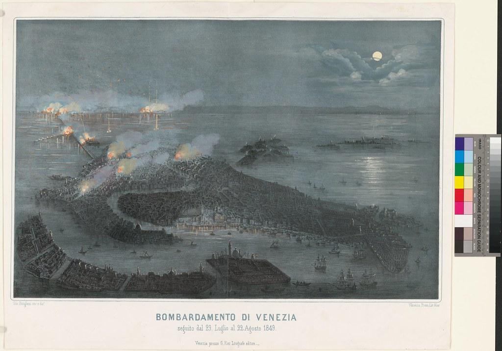 Bombardamento di Venezia seguito dal 29. Luglio al 22. Agosto 1849