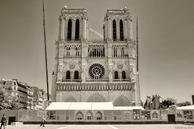 Le parvis de Notre-Dame quasiment vide