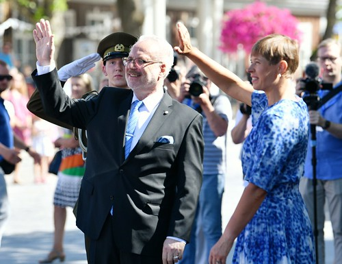25.06.2020. Valsts prezidents Egils Levits Sāmsalā tiekas ar Igaunijas prezidenti Kersti Kaljulaidu