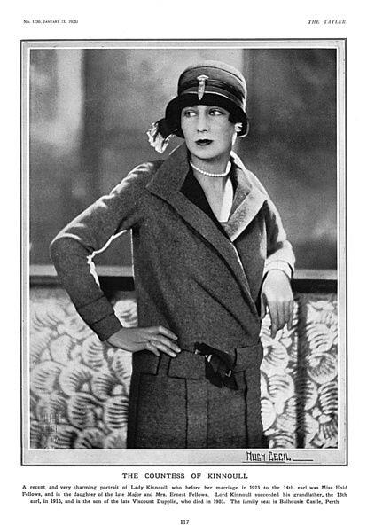 Claude Kinnoull en 1925. The Countess of Kinnoull