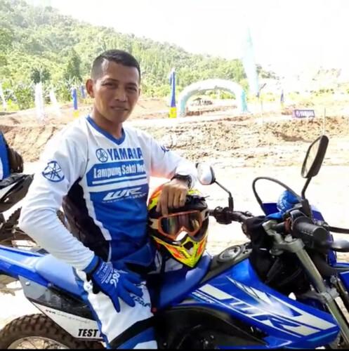 Peserta test ride Yamaha WR 155R saat mini launching di Lampung