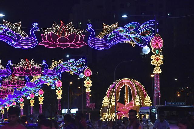Diwali Lighs, Little India, Singapore