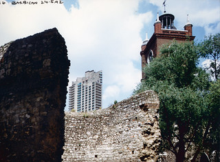 Roman Wall, Barbican, City, 1992TQ3281-068