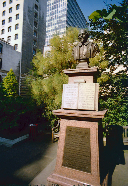 Shakespeare, Garden, Aldermanbury, Love Lane, City, 1986TQ3281-019
