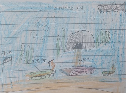 Illustration for Carter and the Olympic Medal written by Carter, Age 7