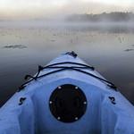 Early morning kayak on Lingroth Lake in Aitken, Minnesota