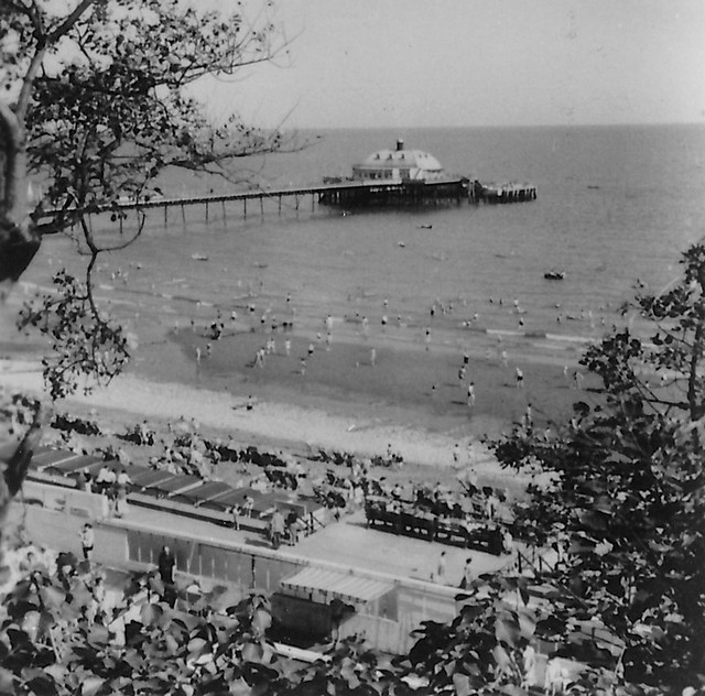 The Beach from Cliff Path, Sandown, Isle of Wight, 1950s