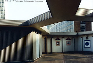 St Alphage Highwalk,, London Wall, City, 1992TQ3281-105