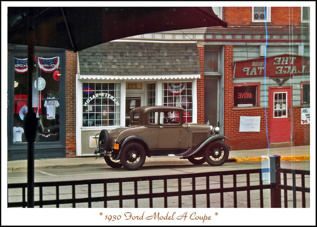 1930 Ford Model A Coupe Reflected