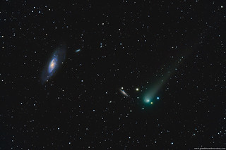 Comet C/2017 T2 PANSTARRS Meets Up With Messier 106 | by TransientAstronomer