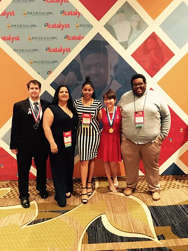 RyKai at the annual PTK Convention. From RyKai Wright: #CommunityCollegeBecause ... it will help enhance your academic goals, leadership, and networking skills