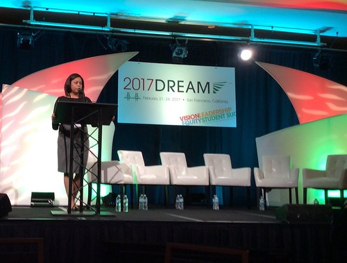 RyKai speaking on stage at the ATD conference. From RyKai Wright: #CommunityCollegeBecause ... it will help enhance your academic goals, leadership, and networking skills
