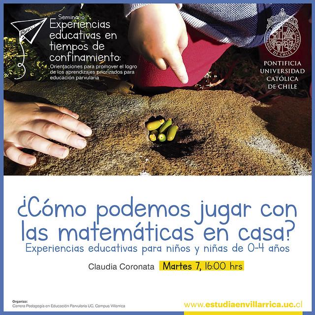 """Seminario """"Experiencias educativas en tiempos de confinamiento"""""""