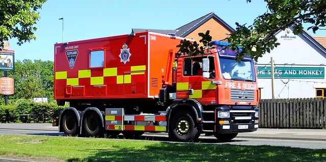 Cleveland Fire Brigade truck .