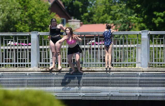 Girls Jumping Off the Bridge