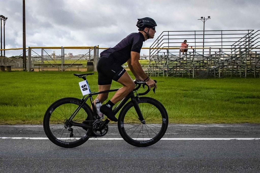 US Marine Participates in Bike Race