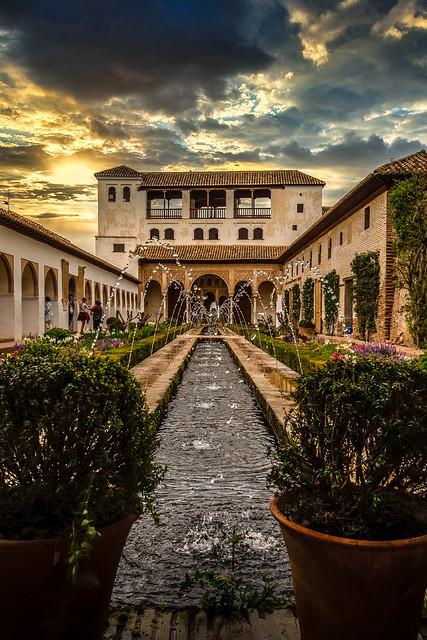 Palacio de los Jardines Generalife - Alhambra - Grenada