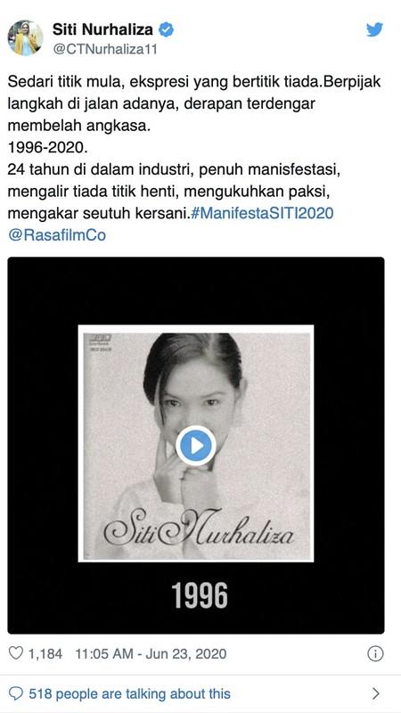 Siti Nurhaliza Rakam Semula Lagu TERATAI MENJELMA Nyanyian Sudirman
