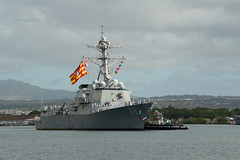 USS Preble (DDG 88) returns to Joint Base Pearl Harbor-Hickam, June 25. (U.S. Navy/MCSN Jaimar Carson Bondurant)