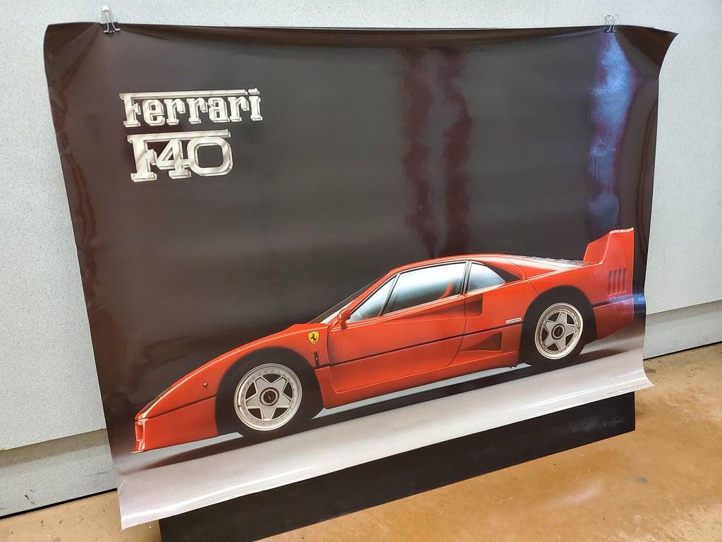 Vintage Ferrari F40 Poster Made In Italy Ebay