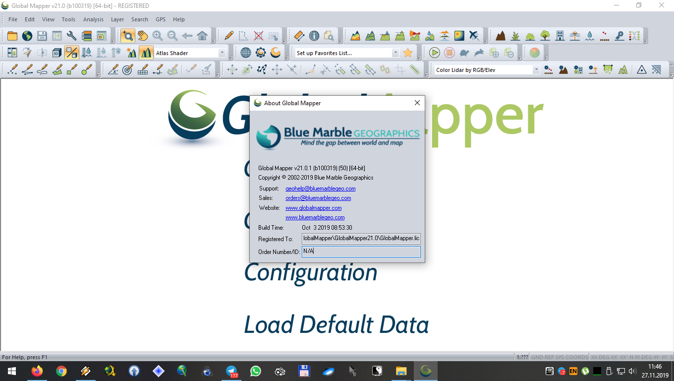 Working with Global Mapper V21 Build b100319 full