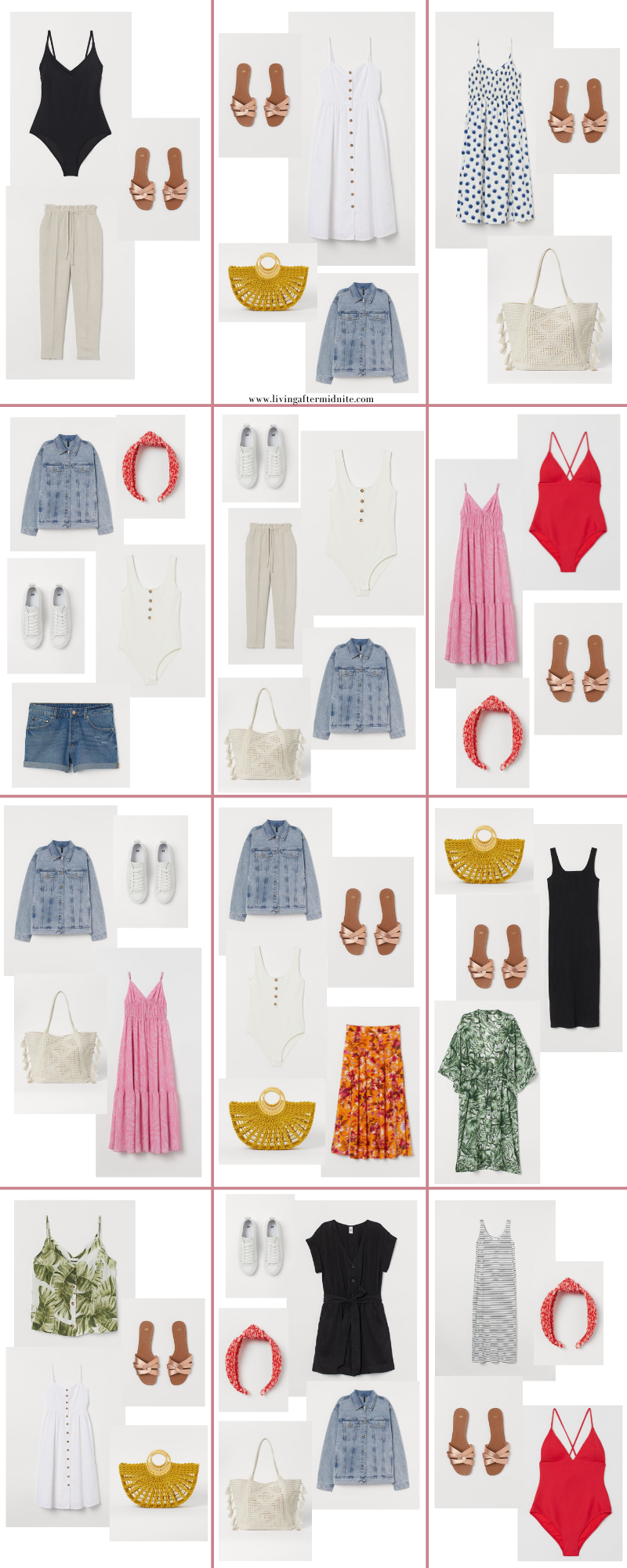 Affordable H&M Summer Capsule Wardrobe | 20 Pieces, 36+ Outfits | How to Build a Capsule Wardrobe | H&M Summer Clothes | Outfit Inspiration | 36 Warm Weather Outfit Ideas | Summer Vacation Packing Guide
