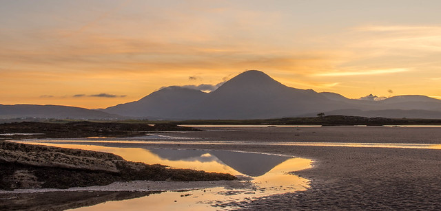 Broadford Red Hills at sunset ( Isle of Skye)