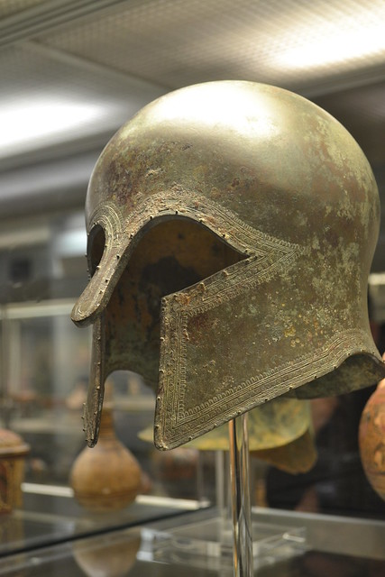 Corinthian type Bronze Helmet - British Museum, London.