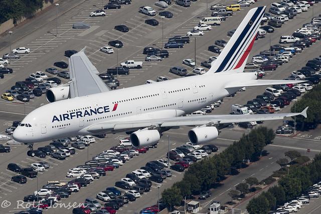 F-HPJC Airbus A380-800 Air France Los Angeles Airport KLAX 12.09-18