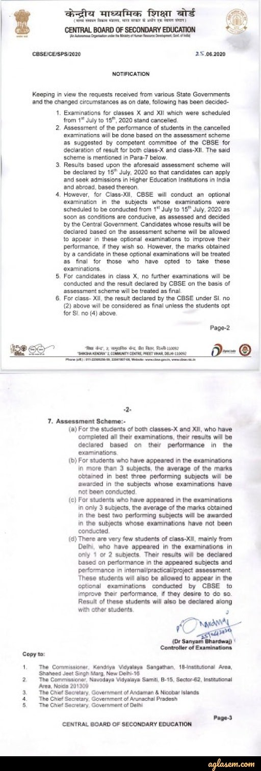 CBSE 12th new assessment scheme