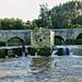 Ponte e azenhas no rio Ave