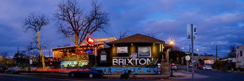 austin panorama texas unitedstates tx usa pano neon sign evening night tree light 6thstreet east6thstreet sixthstreet brixton thebrixton revelry corner stairs